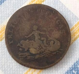 "Jeton Louis XVI pour le Dauphin Louis XVII ""FELICITAS PVBLICAS"" ... 5a52"