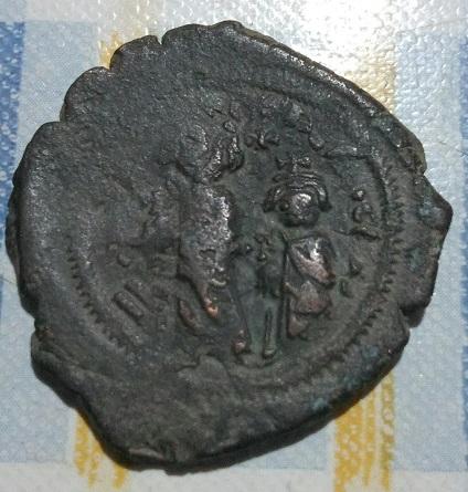 40 nummi de Heraclio y Heraclio Constantino 650
