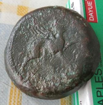 Grande y pesada moneda iberica  665