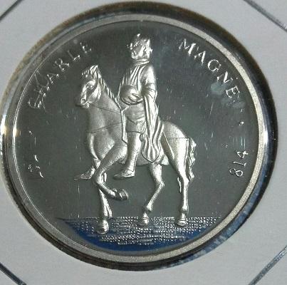1992 ECU argent français. Carlo Magno. 6a38