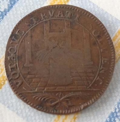 """Jeton Louis XIV États de Bretagne """"VOTAQVE SERVATI SOLVENT"""" ... 6a43"""