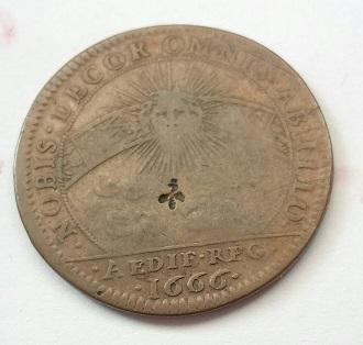 Louis XIIII, jetón avec des contra.marques 818
