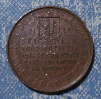 Médaille souvenir de l'Escalade du 12 Décembre 1602 à Genève ... 859