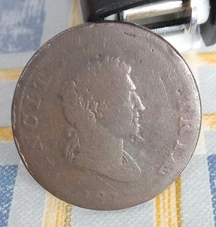 """Jeton britannique ½ Penny """"VINCIT AMOR PATRIÆ"""" 1811 8a27"""