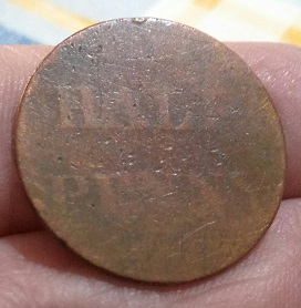 Anagramme, 1800, demi-penny 8a63
