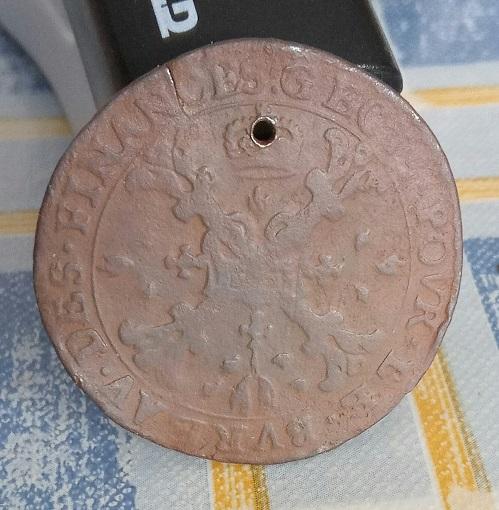Jeton de la Flandre, Charles II, 1672, ville d'Anvers ... 9a26