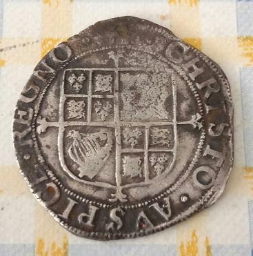 Carolus I , Shilling Anglais 9a61