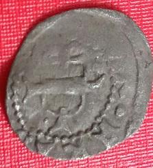 """Petite pièce ... ¼ de Menarer de Frédéric IV d'Autriche """"à la bourse vide"""" (1406-1439)  Aguila14"""