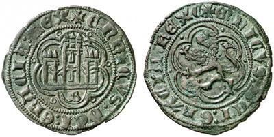 Blanc de Enrique III, roi de Castille & León (1379-1406), atelier de Burgos ... Blanca10