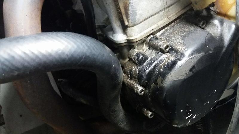 óleo no carburador e por toda parte de cima do motor.  Mo111