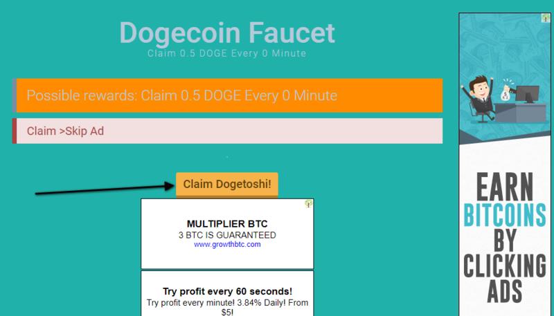 (Provado) Dogecoin Faucet - 0.5 Dogecoin sem tempo de espera. Screen15