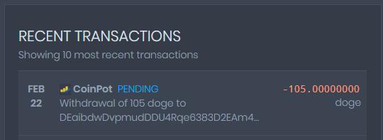 [Provado]CoinPot - Uma wallet diferente com as melhores faucets (Recebido: 2600 Doge/23000 Satoshis)/0,4 Litecoin) Screen45