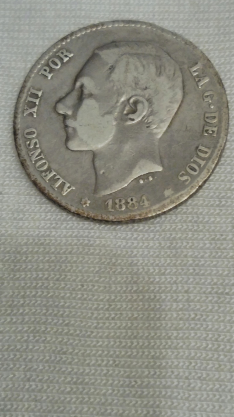 1 Peseta 1884. Alfonso XII Peseta14
