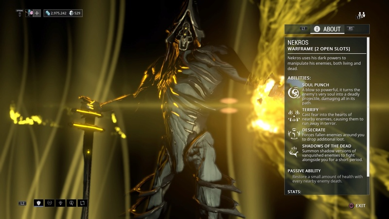 Guide: Warframe tips! (PS4) Nekros10