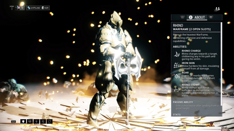 Guide: Warframe tips! (PS4) Rhino10