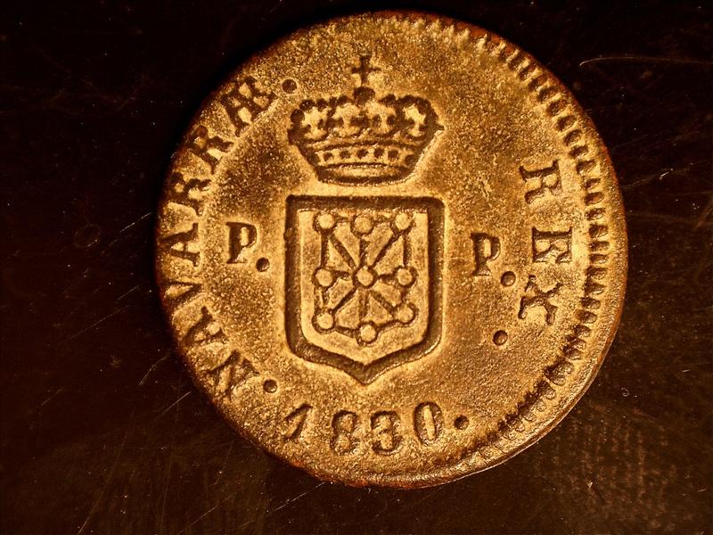 1 Maravedí 1830. Fernando VII (III de Navarra) Pamplona 18251813