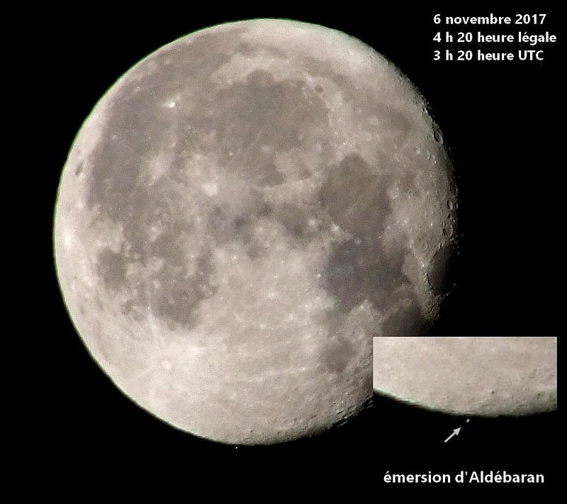 Occultation d'Aldébaran par la Lune Emersi10
