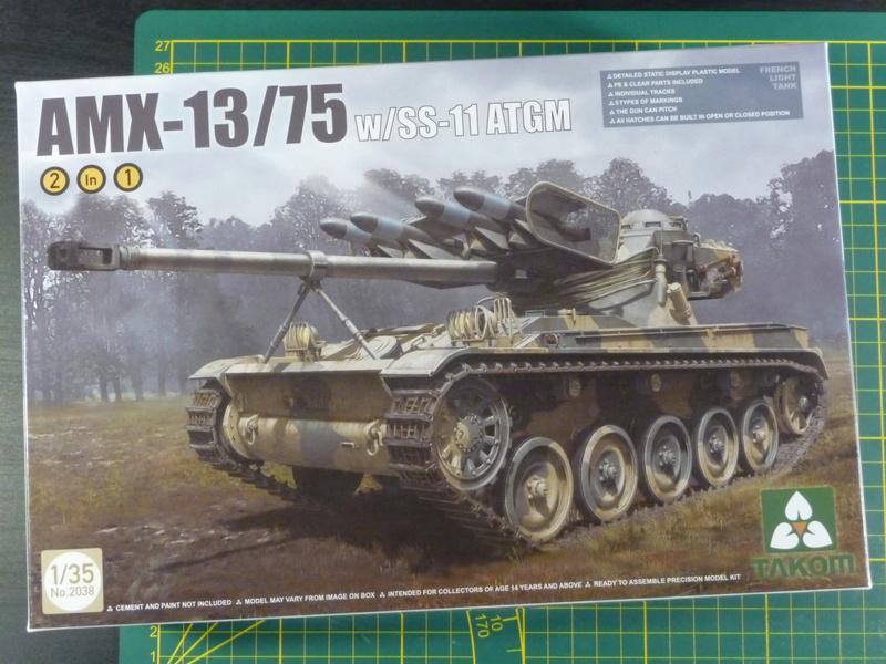 AMX-13/75 w/SS-11 ATGM 1/35 ( Takom 2038 ) *** Terminé en pg 4 P1230523