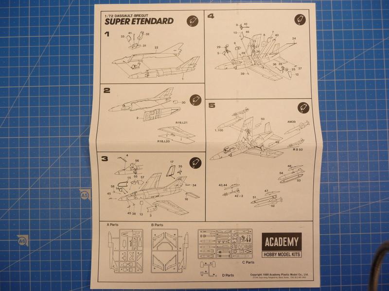 "Dassault Super-Etendard  ( Academy 1/72) ""Tiger Meet 2017 "" Syhartdecals P1240129"