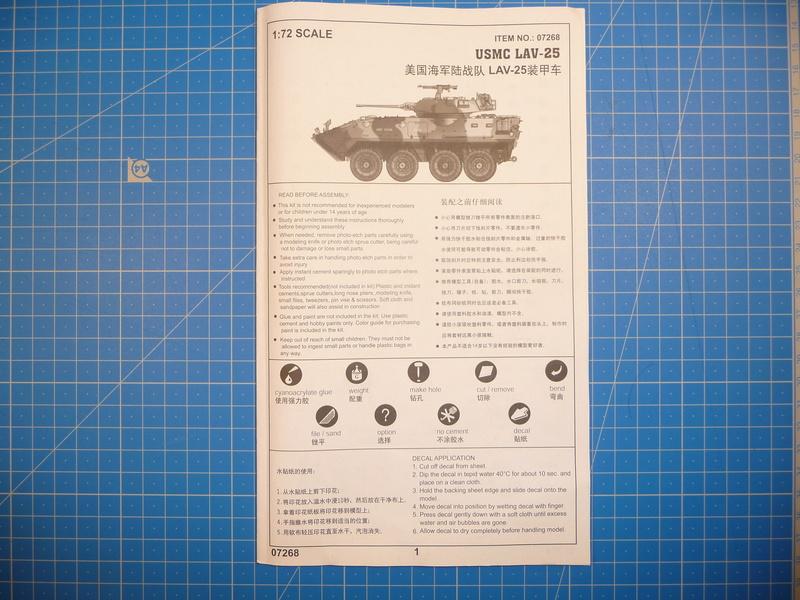 LAV-25 USMC 1/72 ( Trumpeter 07268 ) *** Terminé en pg 1 P1250813