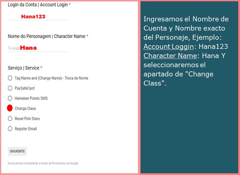 Guia de Cambia Clase (Change Class)  Change11