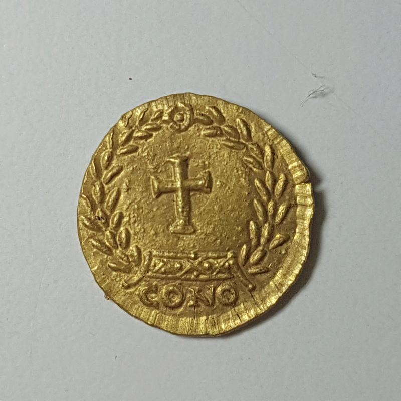 Tremis de Aelia Ariadne. Cruz dentro de corona. Constantinopla 20171113