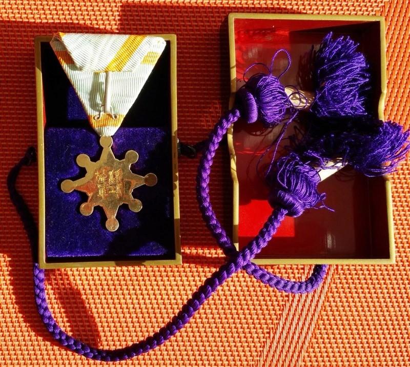 Un policier français décoré du trésor sacré au nom de l'empereur Taisho en 1921 Tamate11