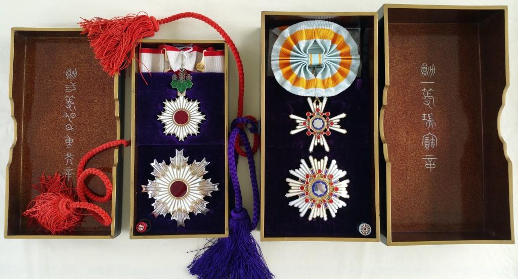 Les 2ème classe du soleil levant et du trésor sacré en écrins Tamatebako Myiaké Tamate25