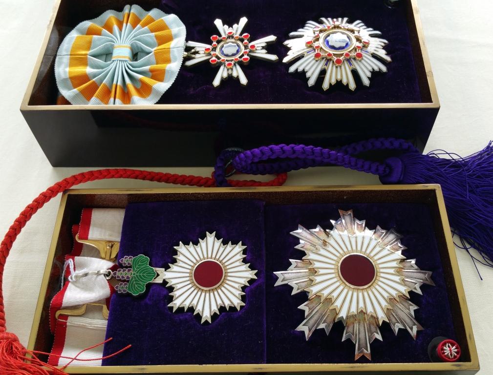 Les 2ème classe du soleil levant et du trésor sacré en écrins Tamatebako Myiaké Tamate26