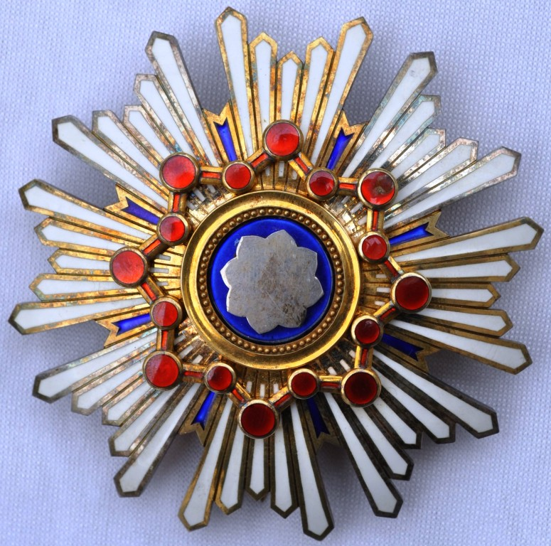 """Empire du Manchukuo, ordre des piliers de l'état   """"満 州 国 柱 國 章"""" Trysor22"""