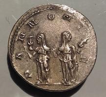 Antoniniano de Trajano Decio. PANNONIAE. Roma Revers13