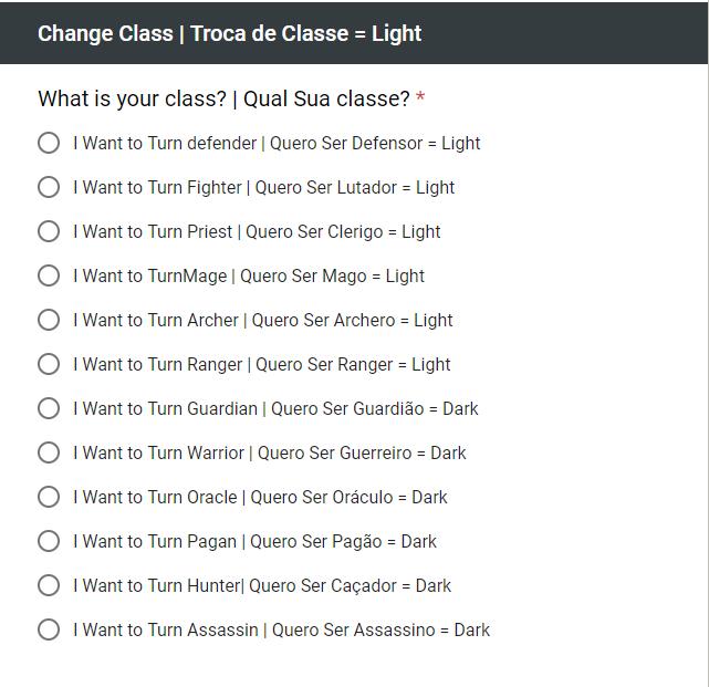 Guia Completo: Troca de Classe (Português) Change12