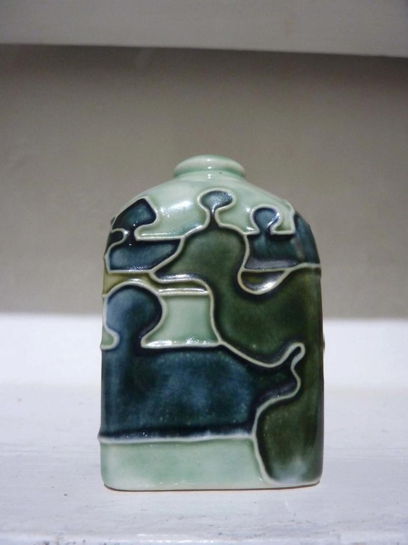 moorcroft 'style' small jar - Jane McCormick 00411
