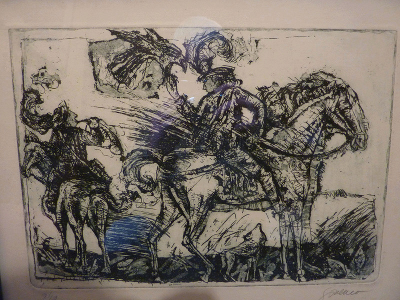Don Quixote and Sancho Panza ? etching ID 01510