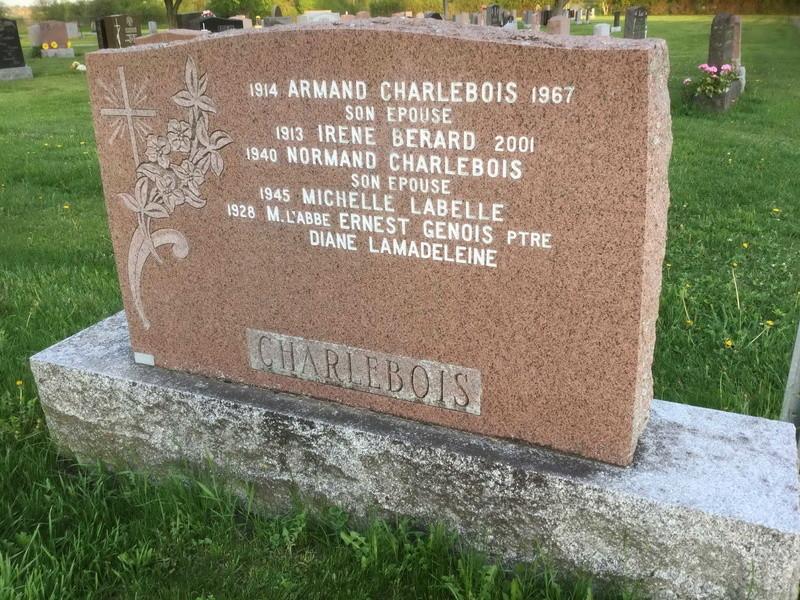 Charlebois Armand et Bedard Irene  (Fils de Raoul Charlebois et de Germaine Ranger ) B90cbe10