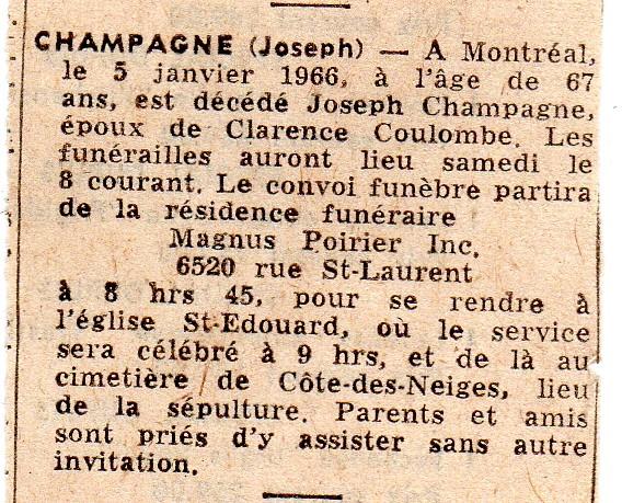 Joseph et Marie Champagne Joseph13