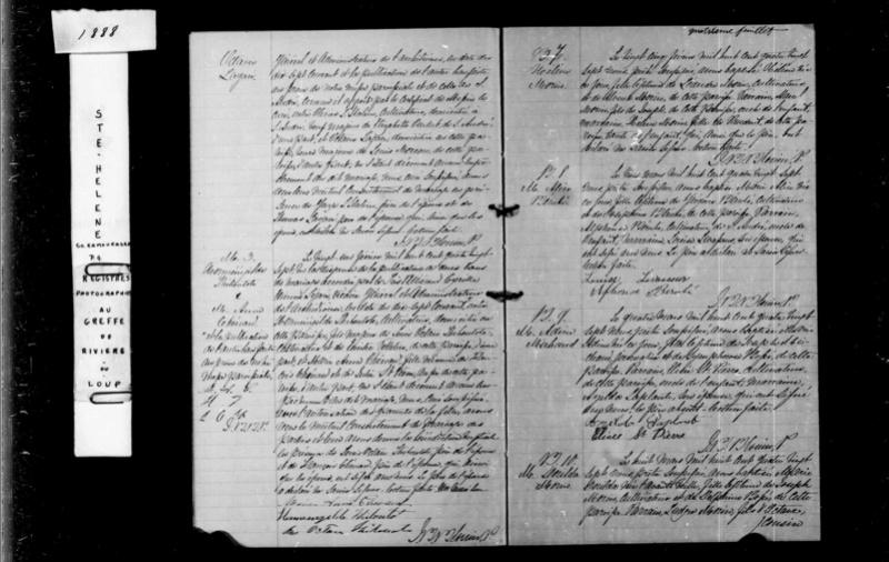 Mariage de Louis Morault et Octavienne Lagacé Octavi11