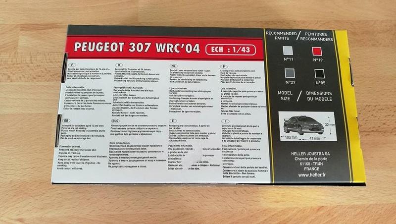 Peugeot 307 wrc 2004 1/43 00210