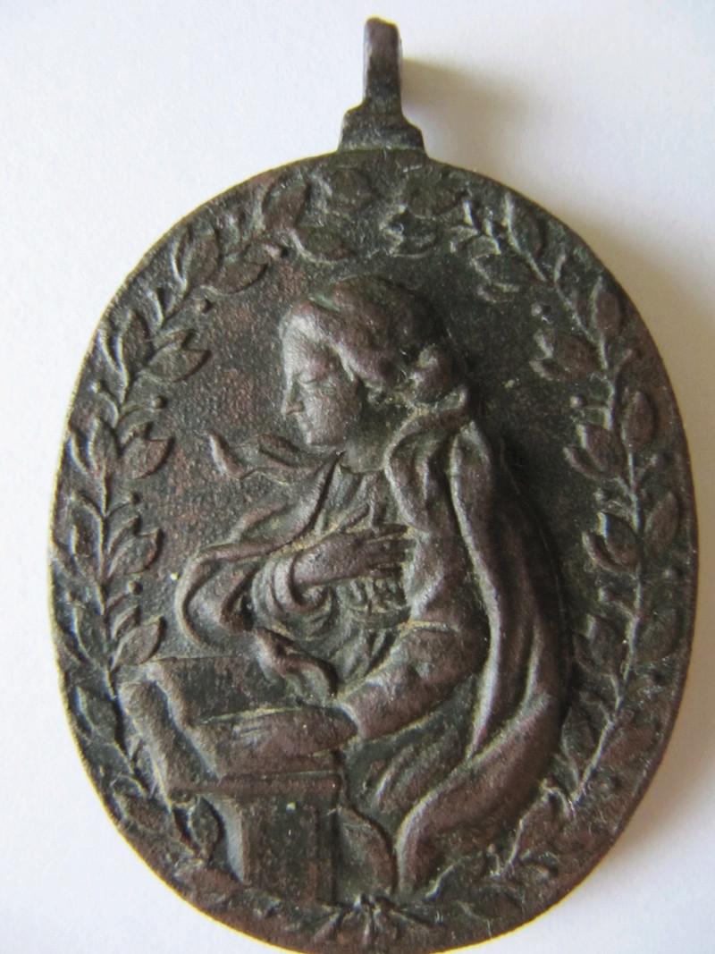 Anunciación: Virgen Maria / Arcángel Gabriel , S. XVII (R.M. SXVII-O461) Medalh18