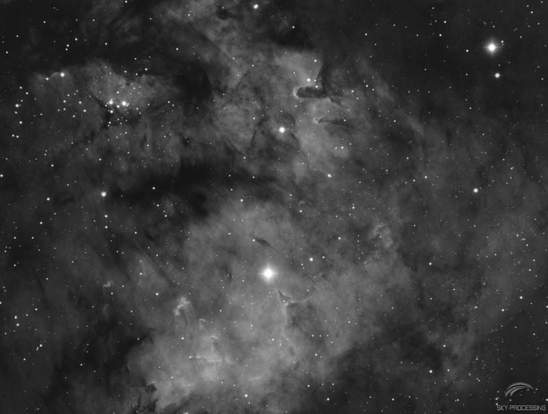 La bulle et NGC 7822 Sh2-1710