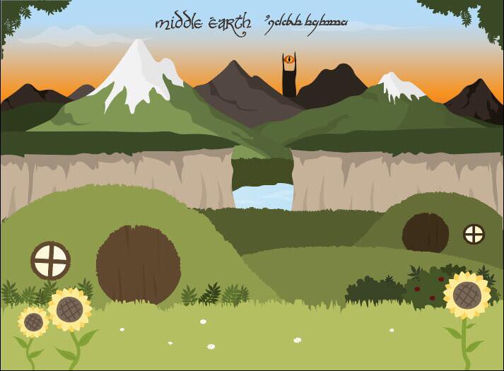 Middle Earth (illustration) 23517910