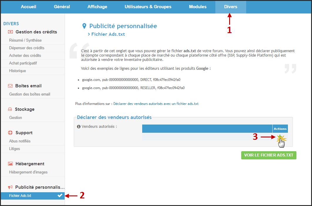 Nouveauté Forumactif : Possibilité de déclarer des vendeurs autorisés avec un fichier ads.txt 113