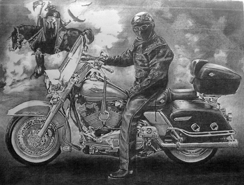 Peintures et dessins Kustom kulture à la main Death_10