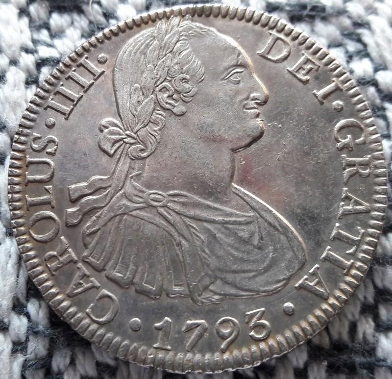 8 Reales 1793. Carlos IV. Mejico F.M. Otra_n10