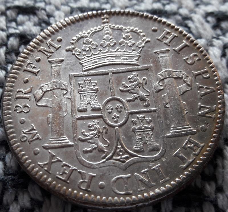 8 Reales 1793. Carlos IV. Mejico F.M. Uuuu10