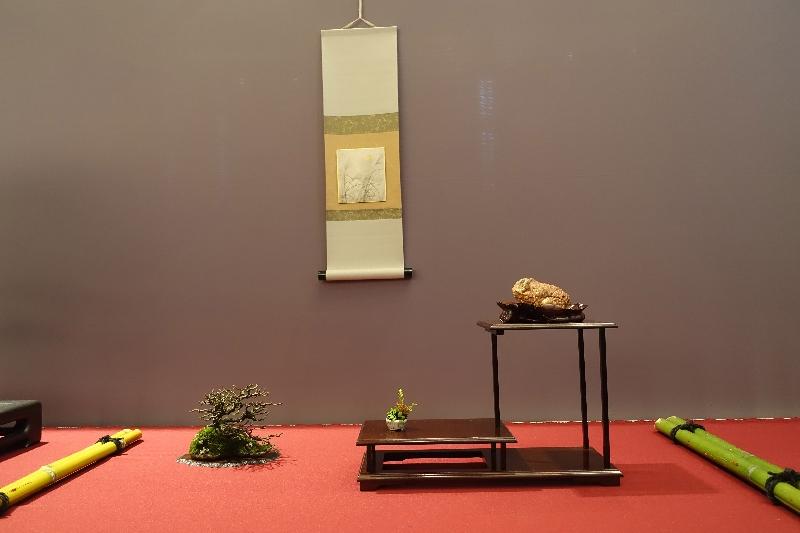 Display of my Suiseki of the German BCD exhibition Hameln Steine11