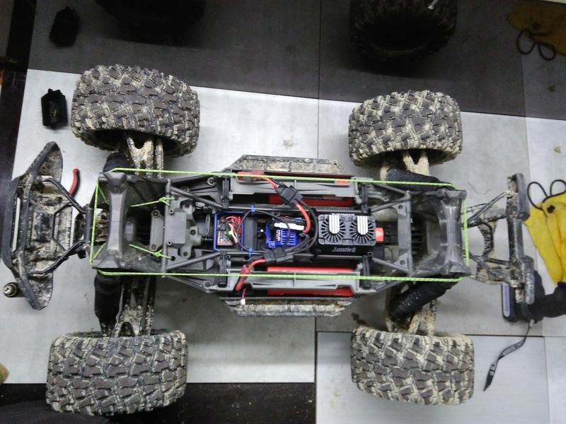 Installation double ventilateur Castle sur le moteur 551cd810