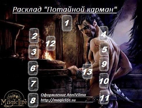 """Расклад """"Потайной карман"""" Aiza_e11"""