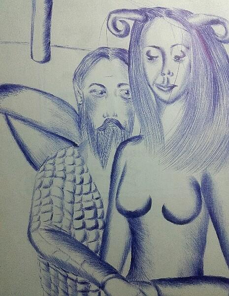Мои рисунки ручкой и карандашом. - Страница 3 05110