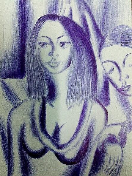 Мои рисунки ручкой и карандашом. Img_2022